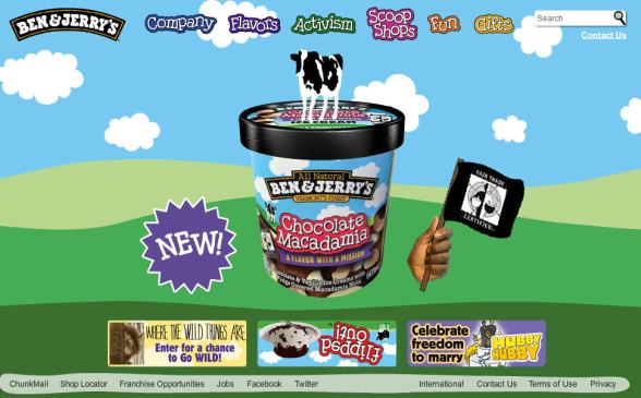 Ben & Jerry's Home Page
