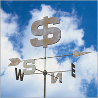 Money weathervane