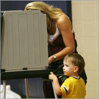 Woman vote